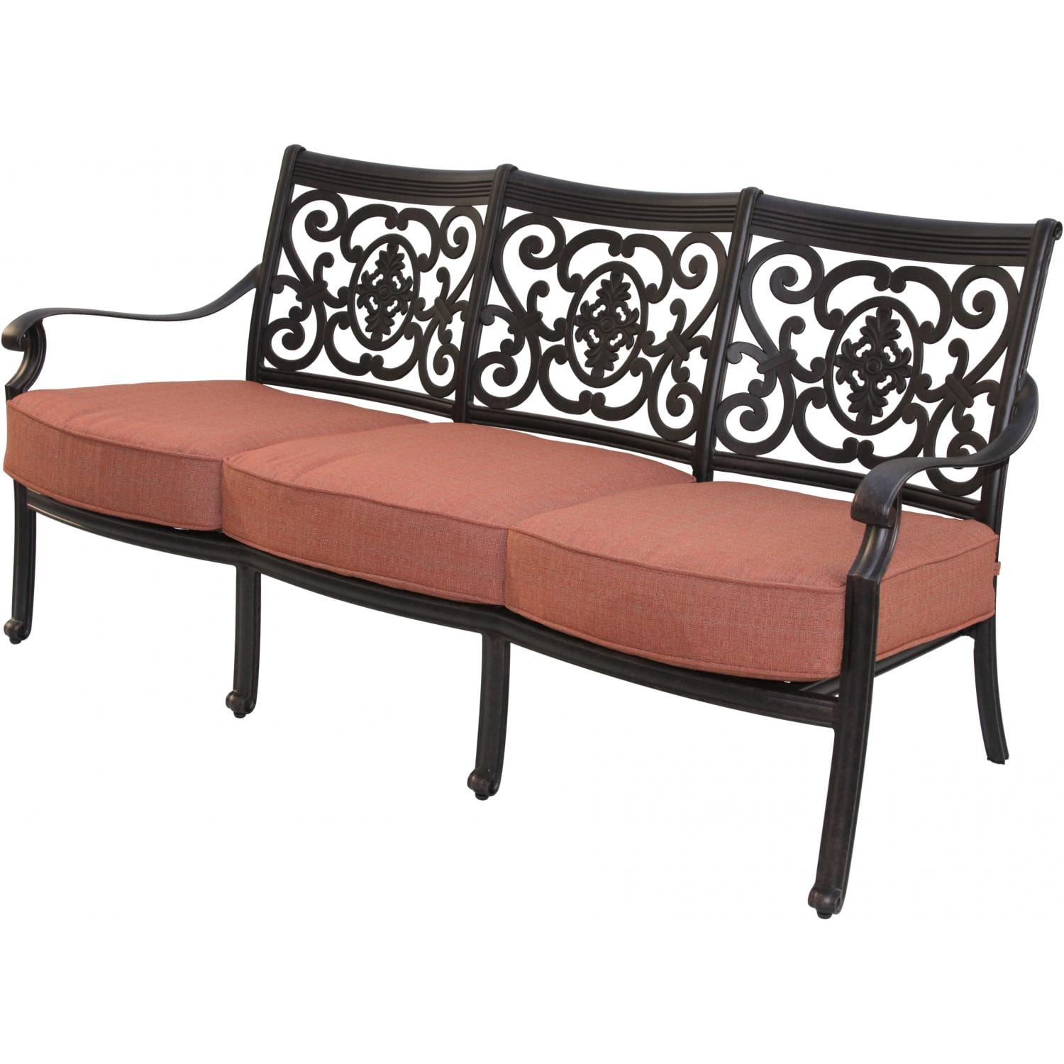 Darlee St. Cruz Cast Aluminum Patio Sofa