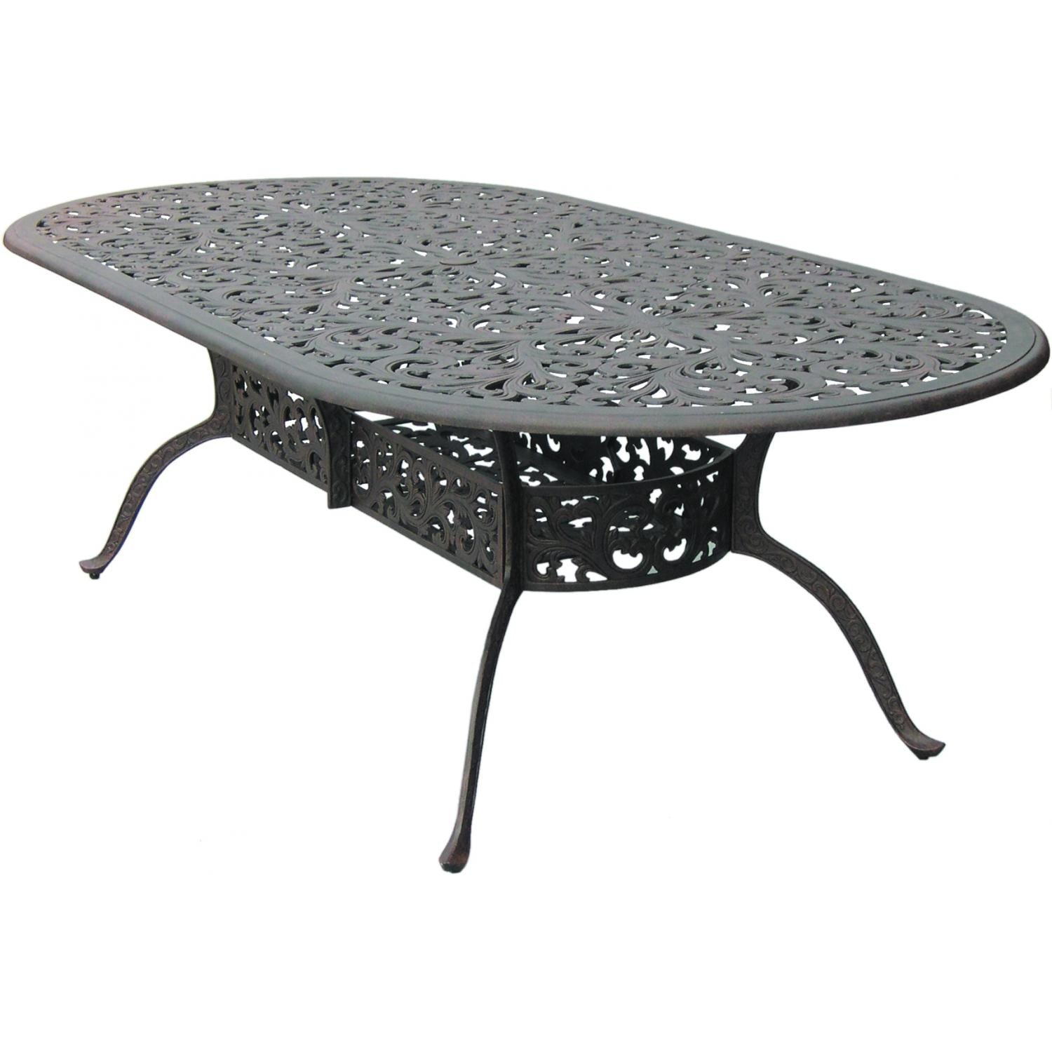 Darlee Series 80 Cast Aluminum Oval Patio Dining Table