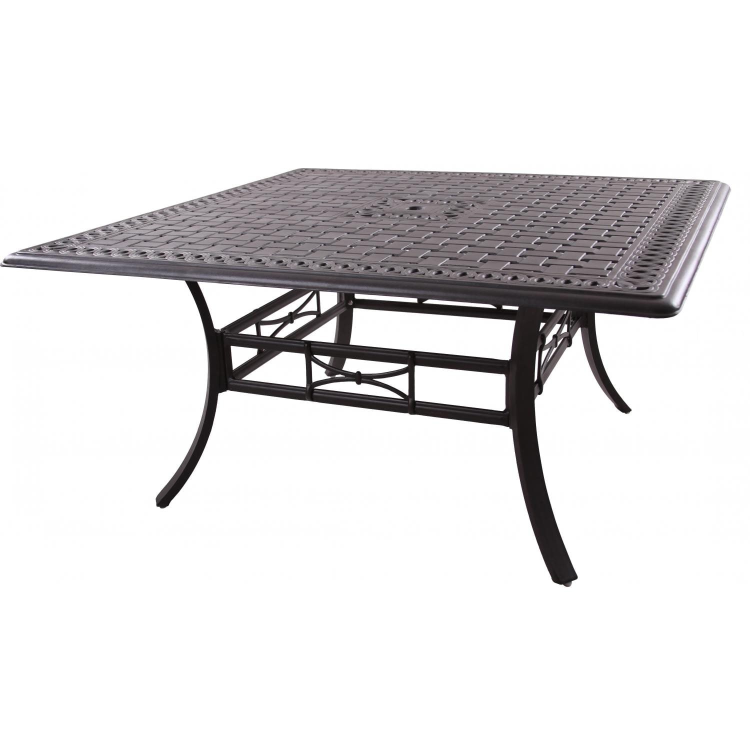 Darlee Series 88 60-Inch Cast Aluminum Patio Dining Table