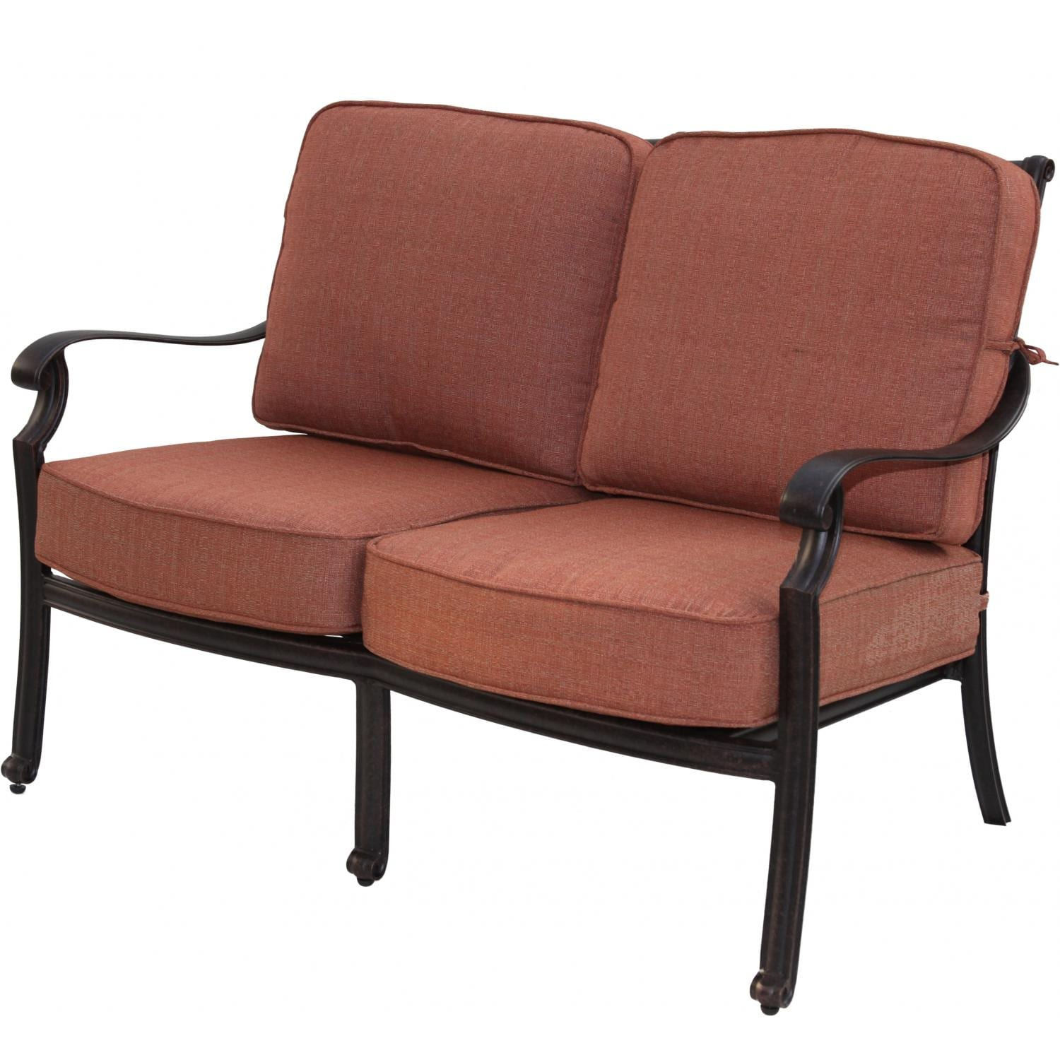 Darlee St. Cruz Cast Aluminum Patio Loveseat