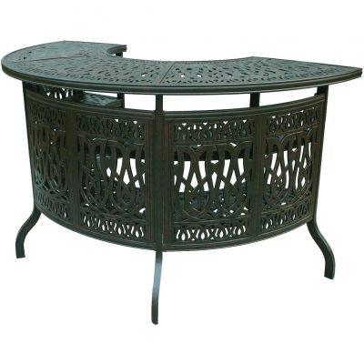 Darlee Elisabeth Patio Party Bar - Antique Bronze