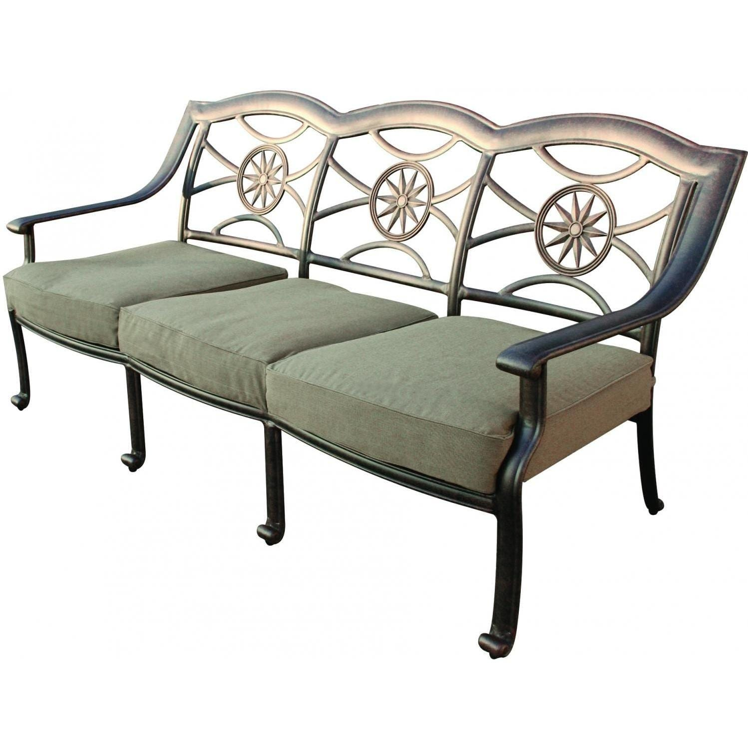 Darlee Ten Star Cast Aluminum Patio Sofa