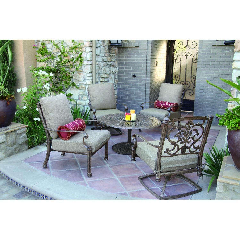 Darlee Santa Barbara 5 Piece Aluminum Conversation Seating Set
