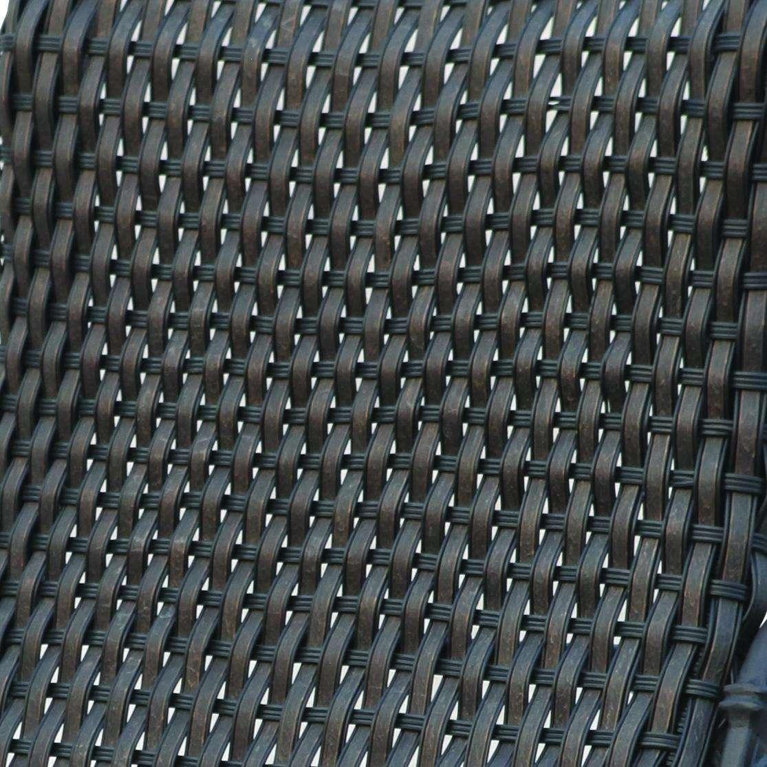 Darlee Vienna 4 Piece Resin Wicker Patio Seating Set