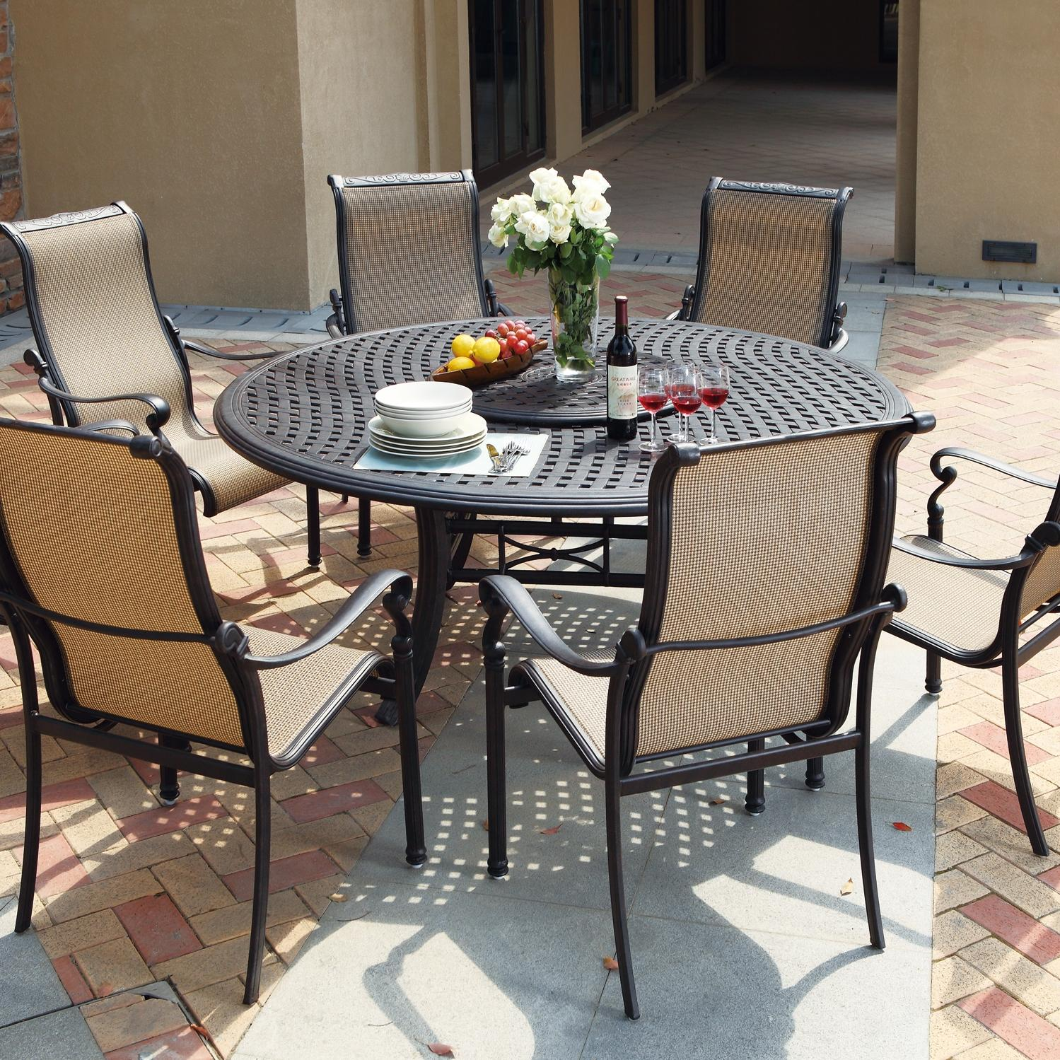 Darlee Monterey 8 Piece Sling Patio Dining Set