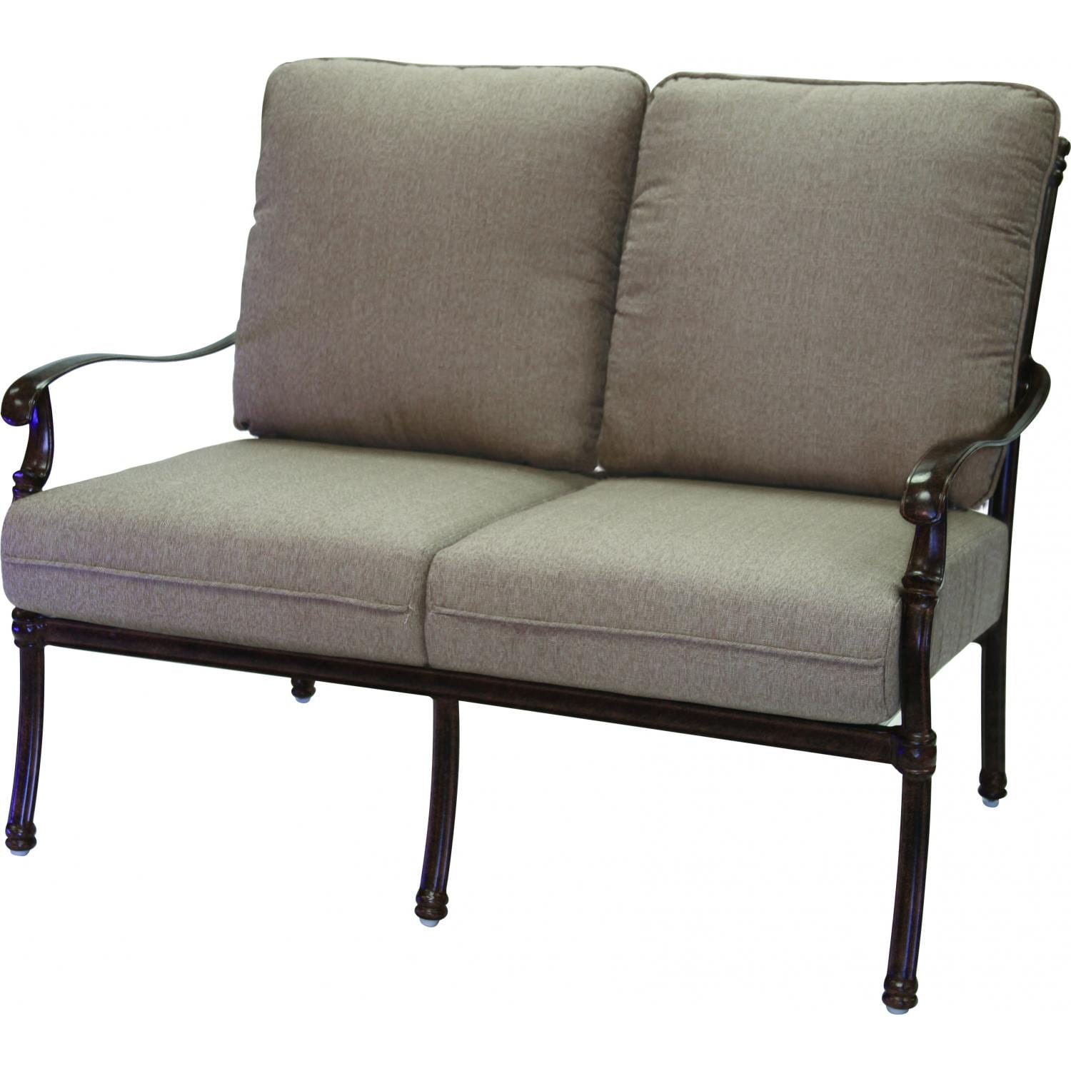 Darlee Florence Cast Aluminum Patio Loveseat