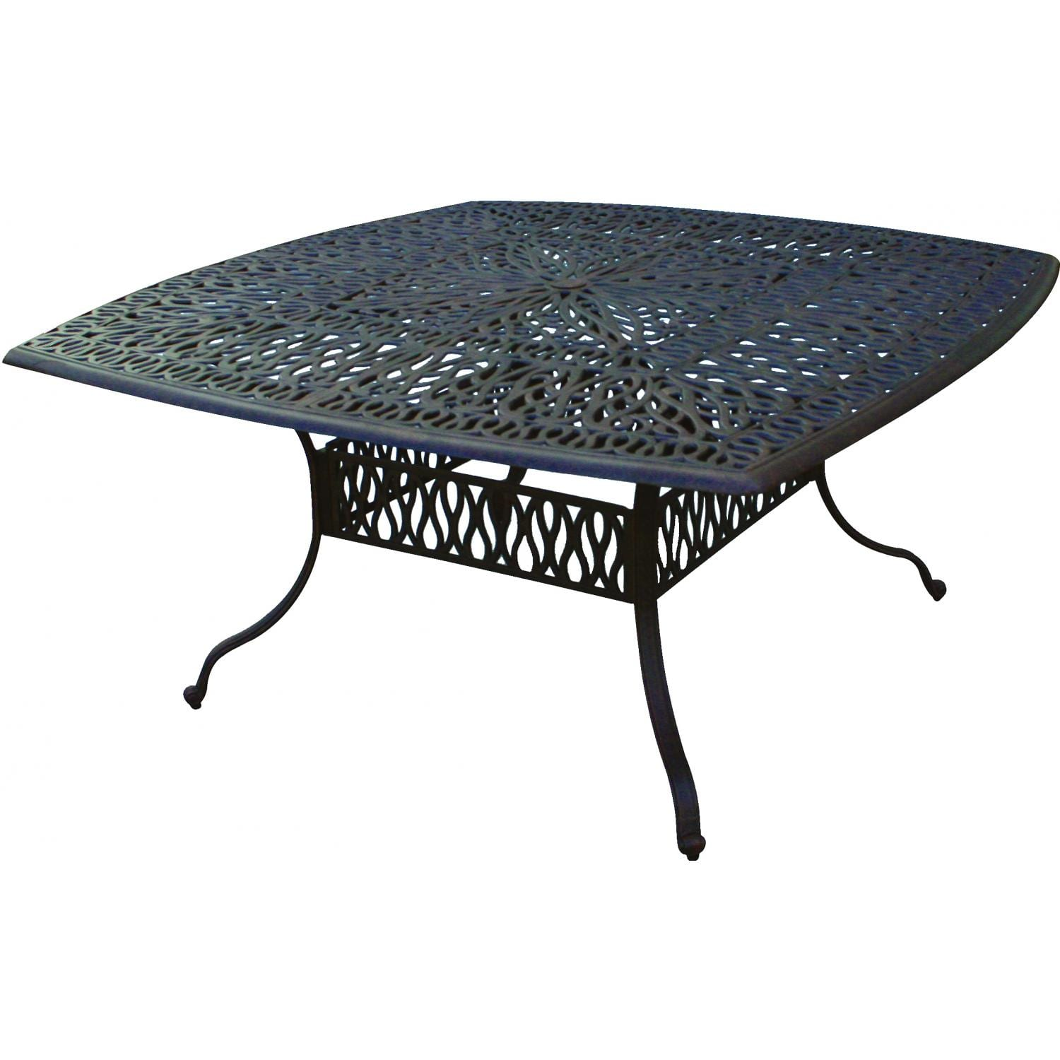 Darlee Elisabeth 64-Inch Cast Aluminum Patio Dining Table