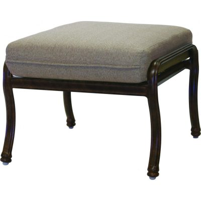 Darlee Florence Patio Ottoman - Antique Bronze