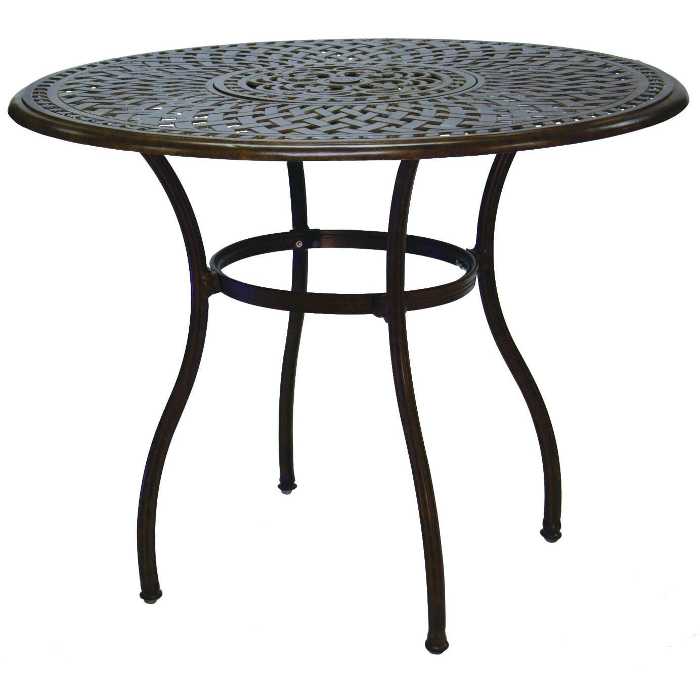 Darlee Series 60 52-Inch Cast Aluminum Patio Bar Table