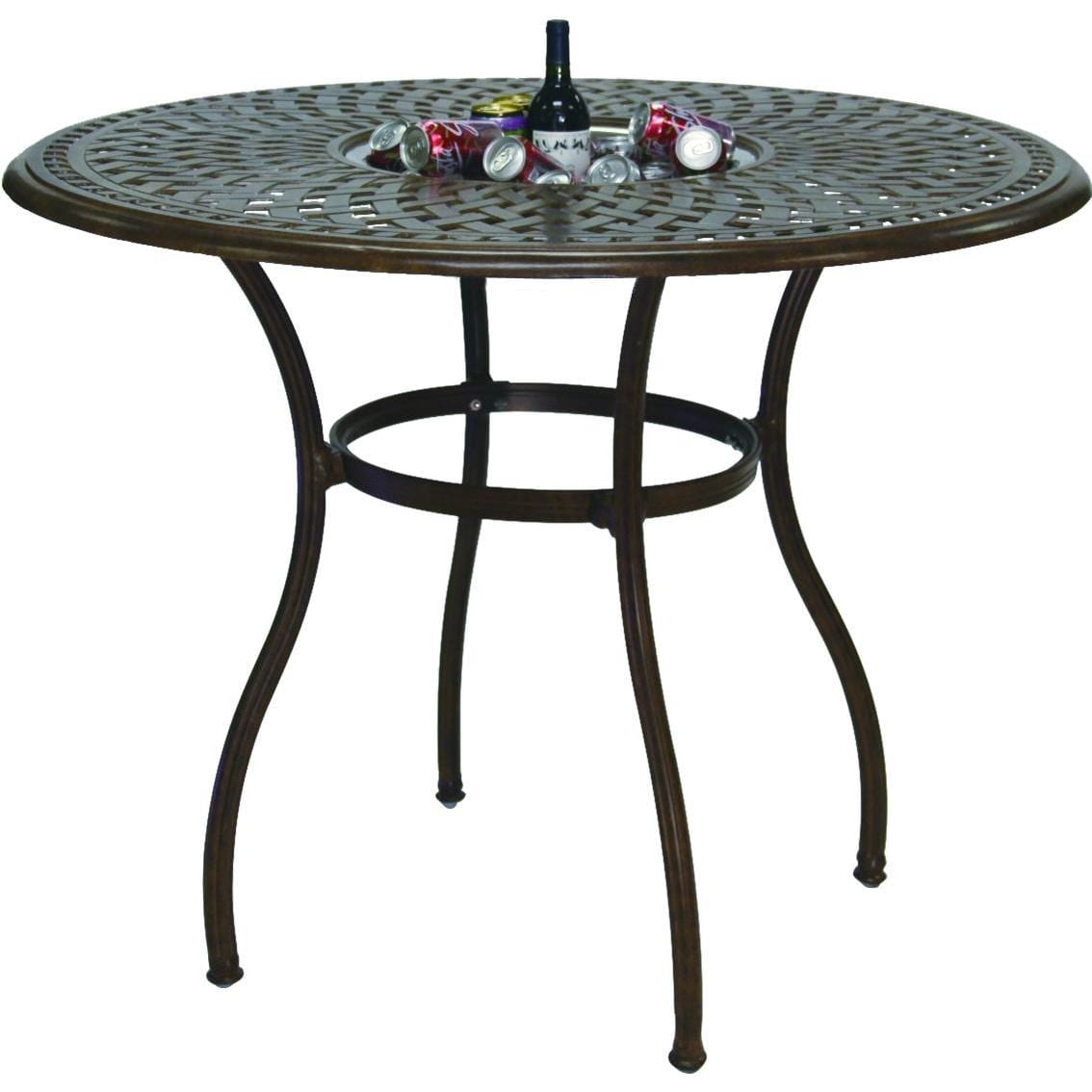 Darlee Series 60 52 Inch Cast Aluminum Patio Bar Table