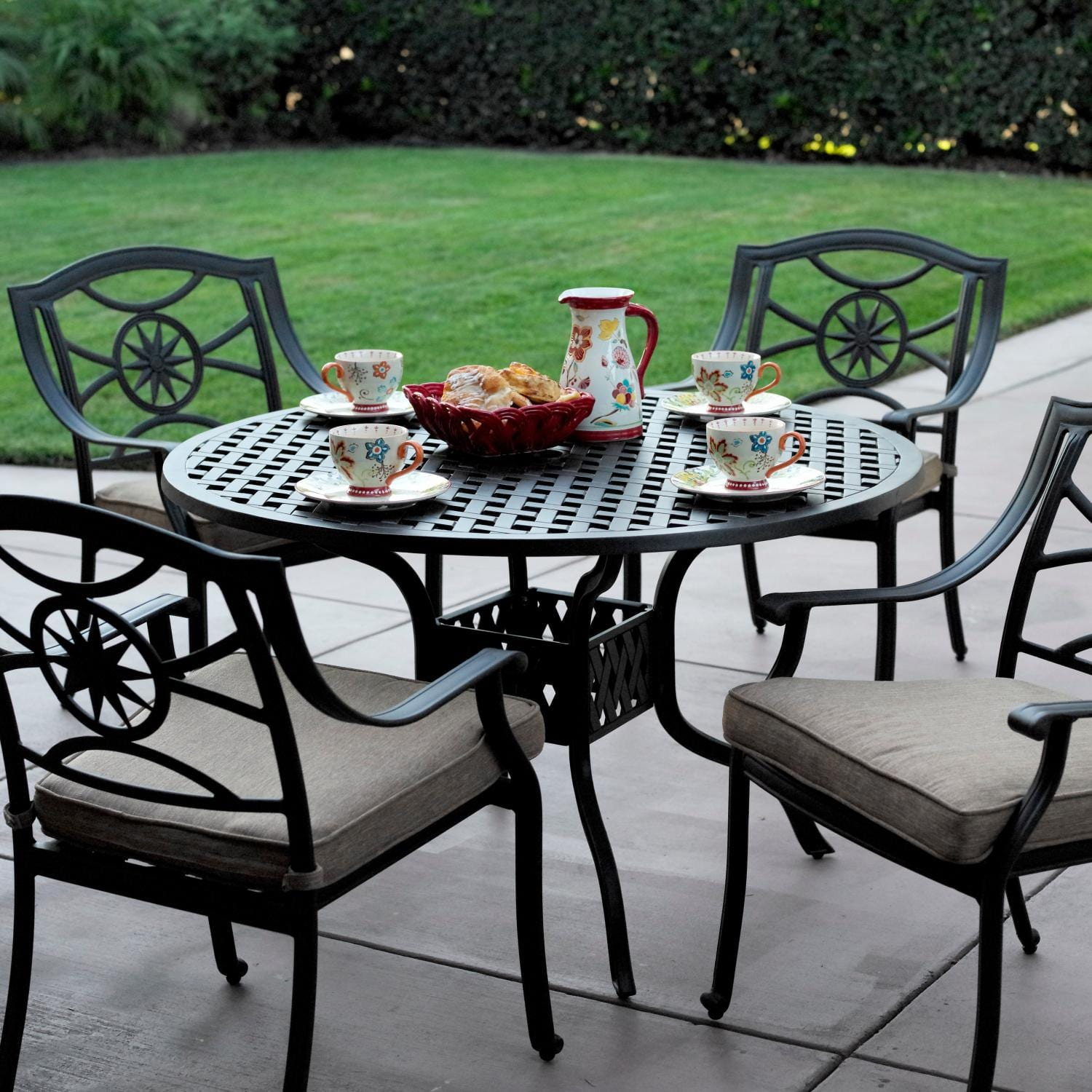 Darlee Ten Star 5 Piece Cast Aluminum Patio Dining Set