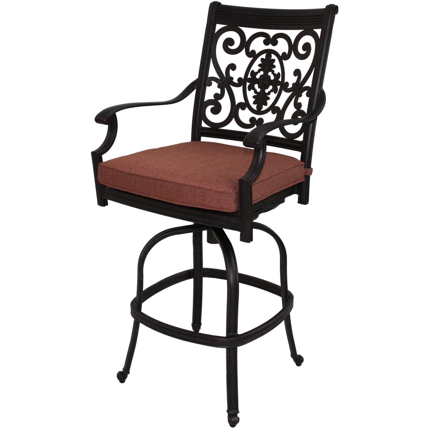 darlee st cruz patio swivel bar stool cast aluminum