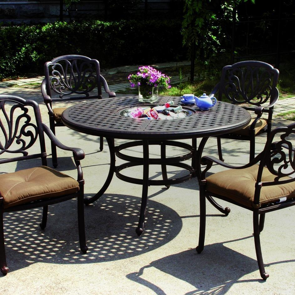 Darlee Elisabeth 5 Piece Ice Bucket Patio Dining Set