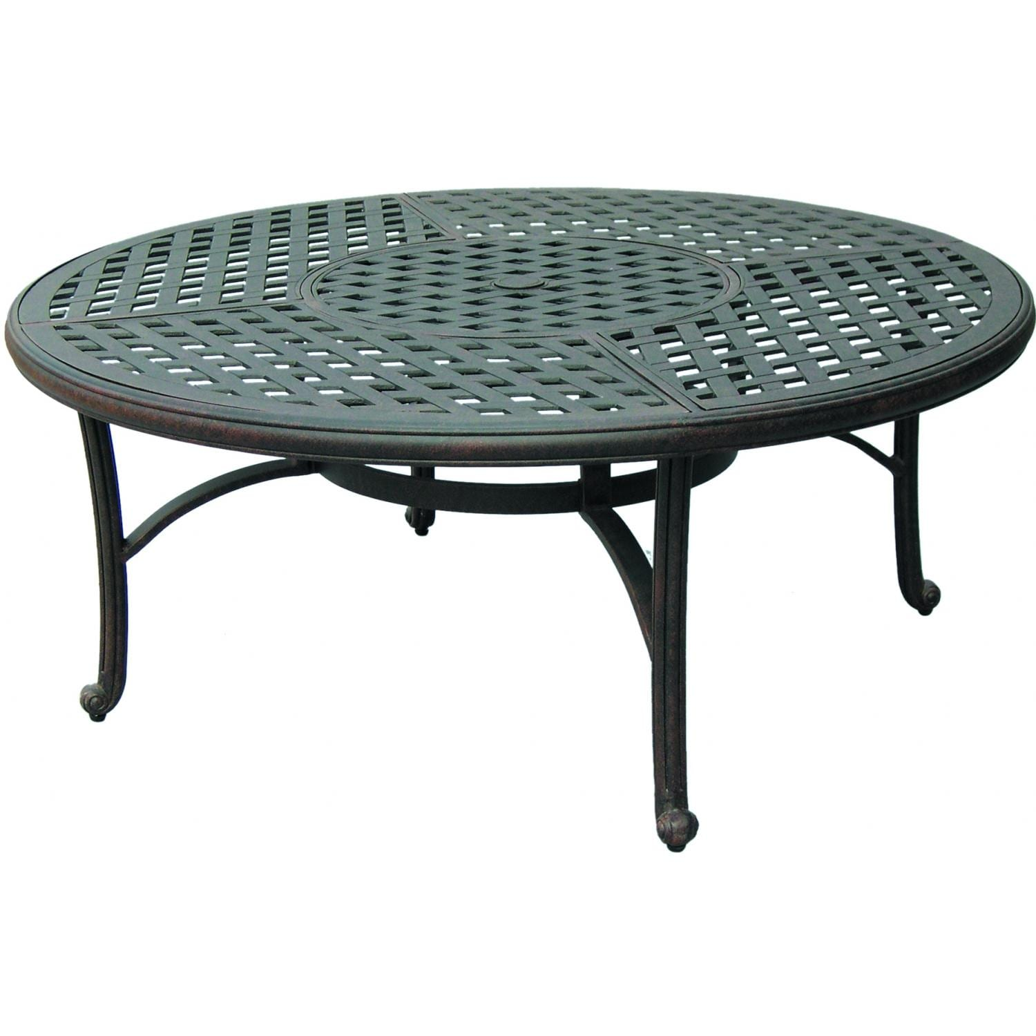Darlee Series 30 52-Inch Cast Aluminum Patio Chat Table