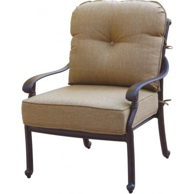 Darlee Santa Monica Patio Deep Seating Lounge Chair - Antique Bronze