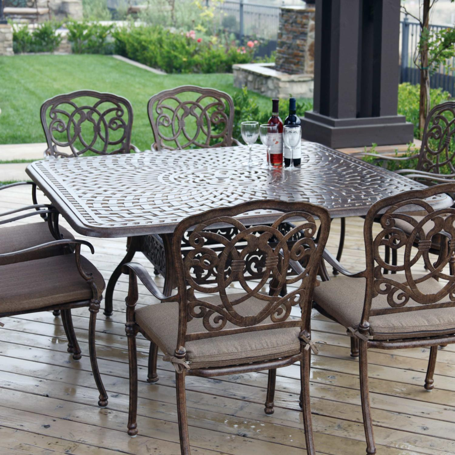 Darlee Florence 9 Piece Cast Aluminum Patio Dining Set