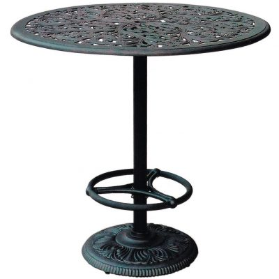 Darlee Series 80 Patio Pedestal Bar Table - Antique Bronze