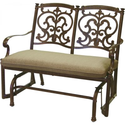 Darlee Santa Barbara 2-Person Patio Bench Glider - Antique Bronze