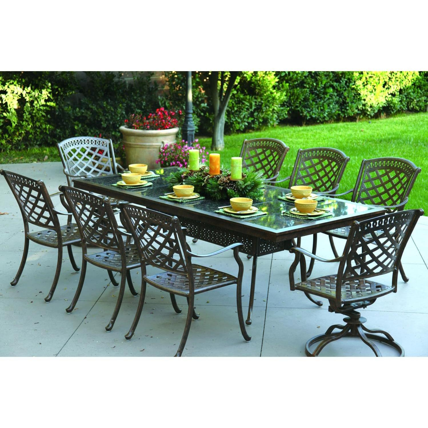 Darlee Sedona 9 Piece Cast Aluminum Patio Dining Set