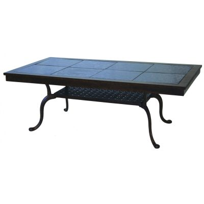 Darlee Series 77 Patio Coffee Table - Mocha / Brown Granite Tile