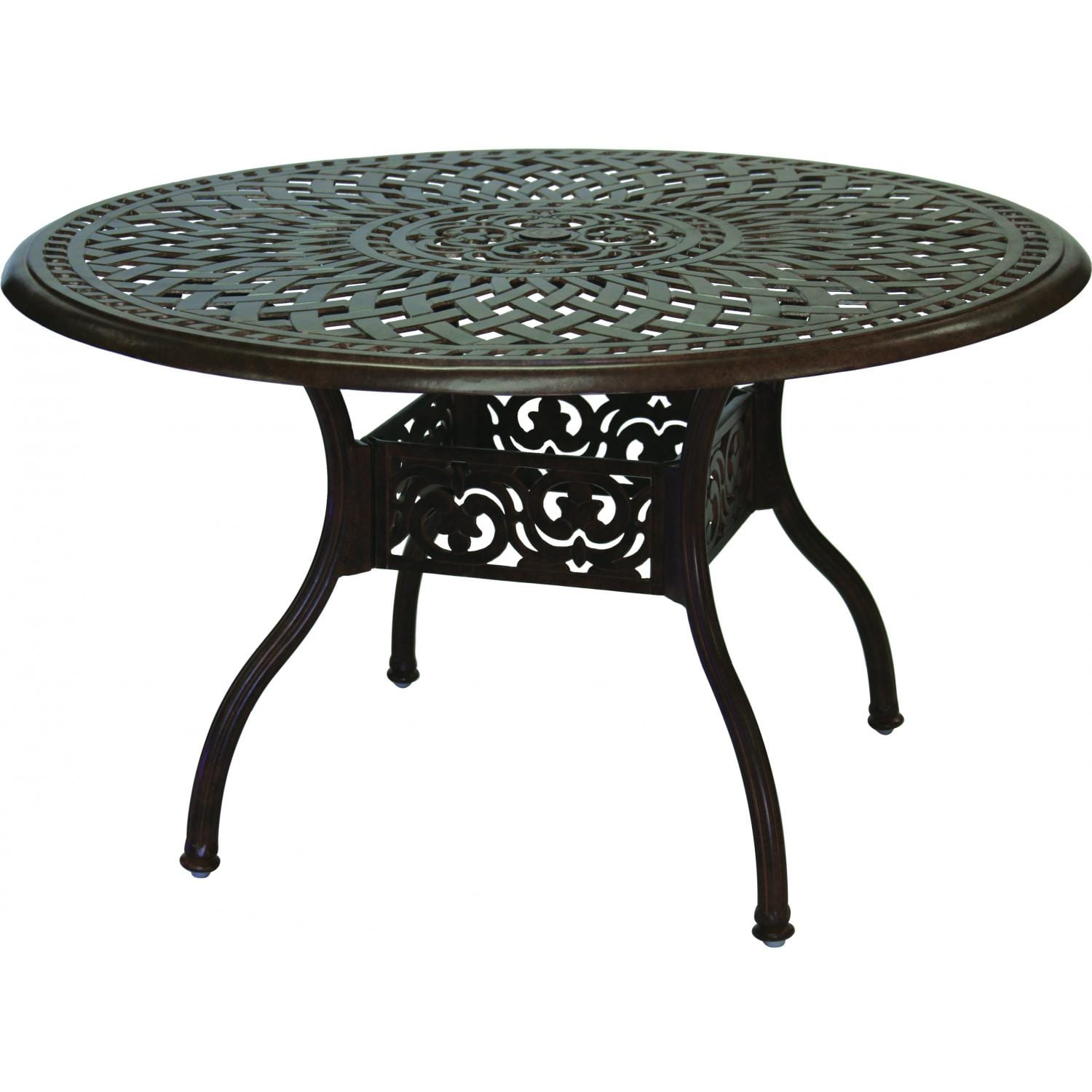 Darlee Series 60 48-Inch Cast Aluminum Patio Dining Table