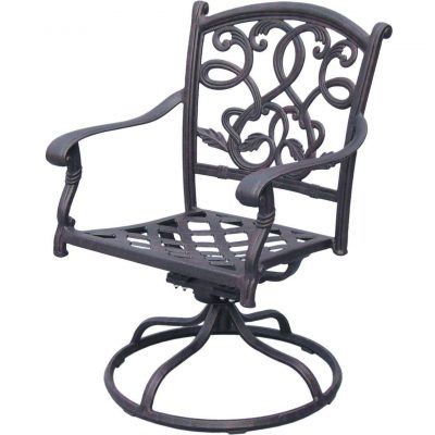 Darlee Santa Monica Patio Swivel Rocker Dining Chair - Antique Bronze