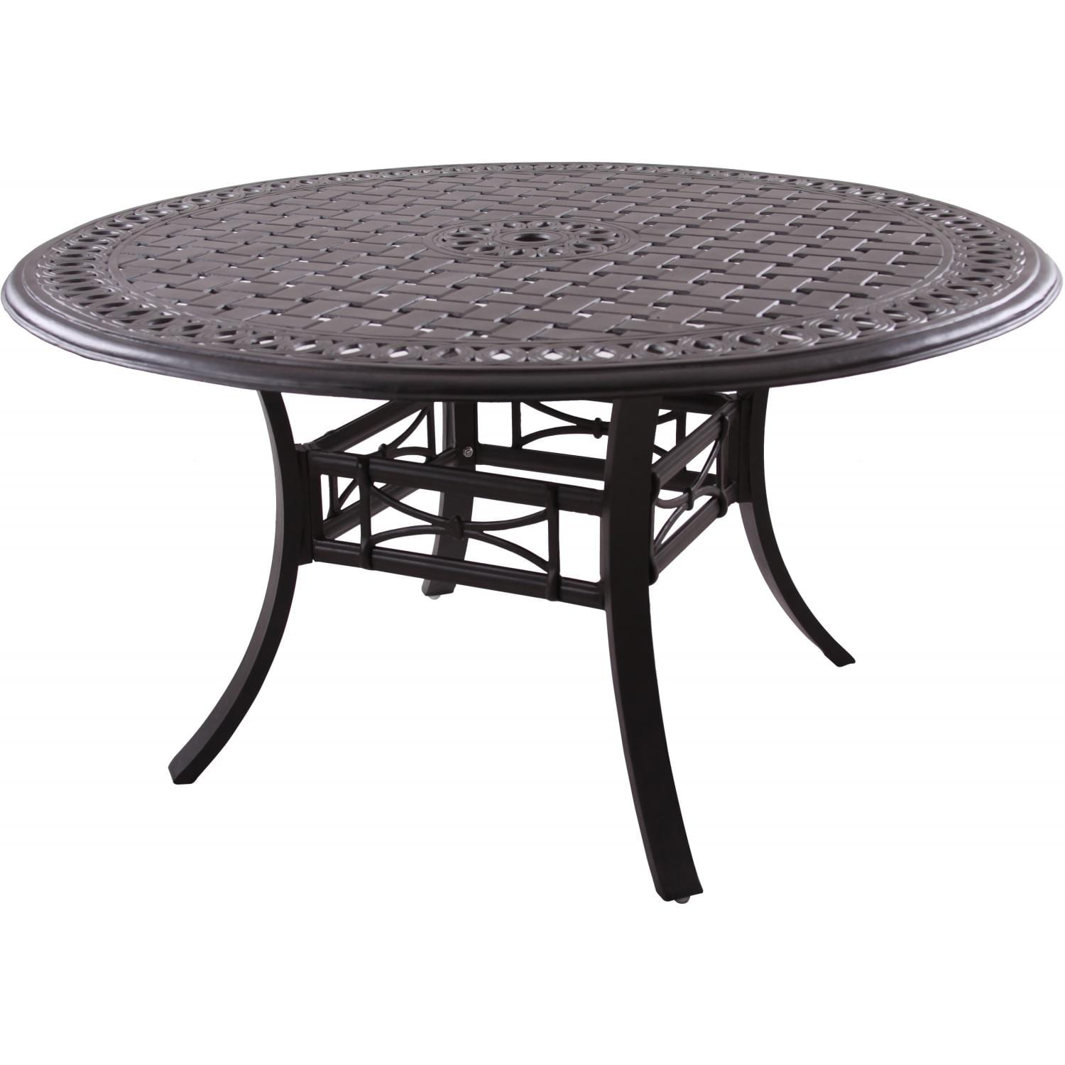 Darlee Series 88 54-Inch Cast Aluminum Patio Dining Table