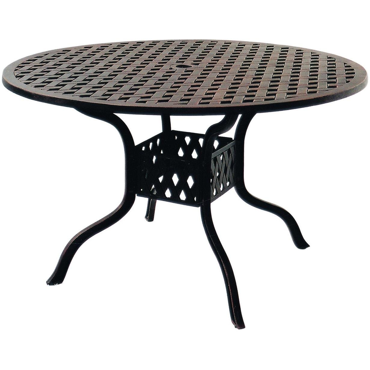 Darlee Series 30 48 Inch Cast Aluminum Patio Dining Table