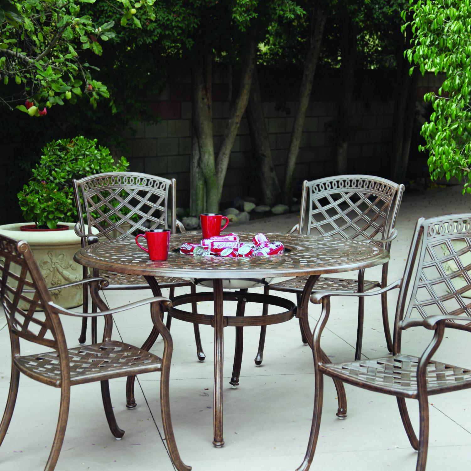 Darlee Sedona 5 Piece Cast Aluminum Patio Dining Set