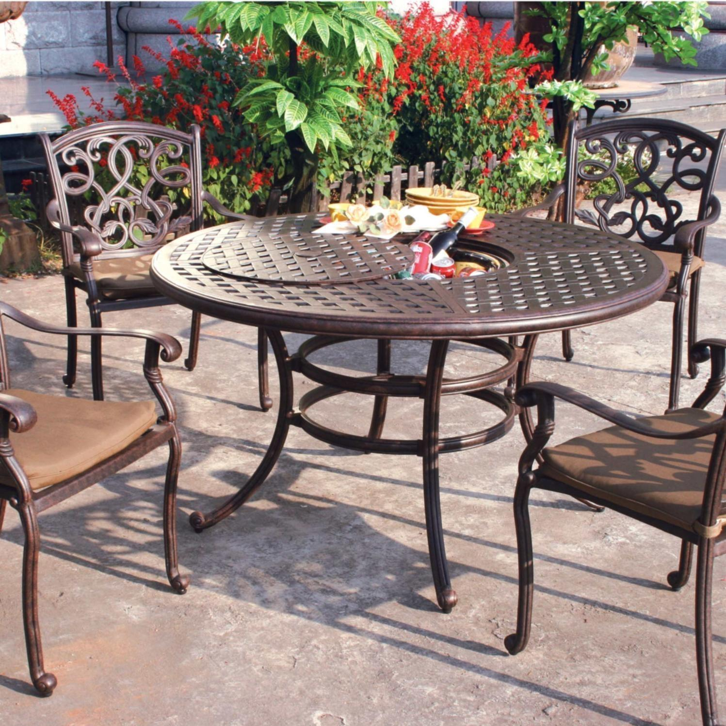 Darlee Santa Monica 5 Piece Cast Aluminum Patio Dining Set