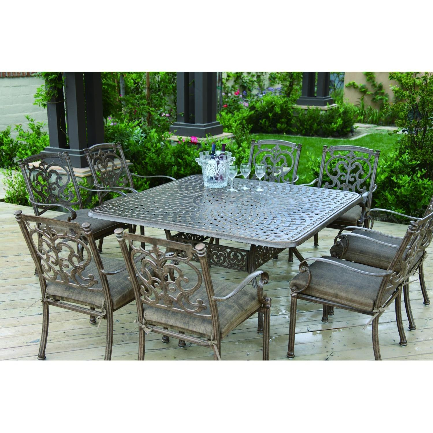 Darlee Santa Barbara 9 Piece Cast Aluminum Patio Dining Set ...
