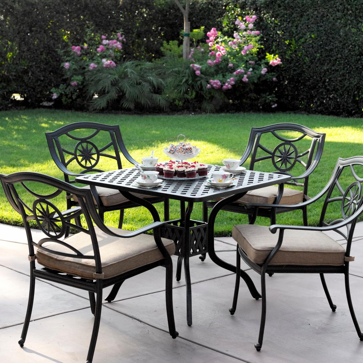 Darlee Ten Star 5 Piece Square Table Patio Dining Set