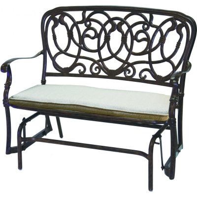 Darlee Florence Patio Bench Glider - Antique Bronze