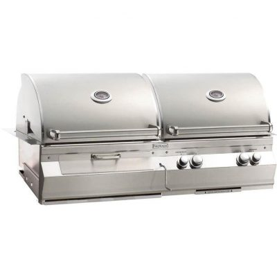 Fire Magic Aurora A830i Built-In Natural Gas And Charcoal Combo Grill With Rotisserie