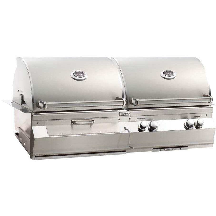 Fire Magic Aurora A830i Gas And Charcoal Combo Grill
