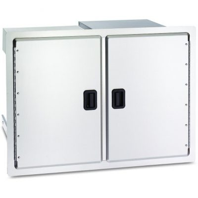 Fire Magic Legacy 30 Inch Stainless Double Access Door With Drawers And Trash Bin Storage