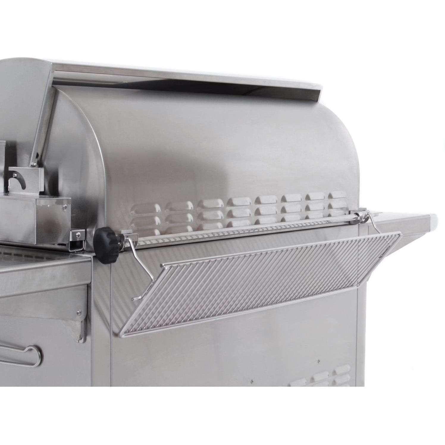 Fire Magic Echelon Diamond E1060s Gas Grill - Warming Rack and Rotisserie Spit Rod Storage Area
