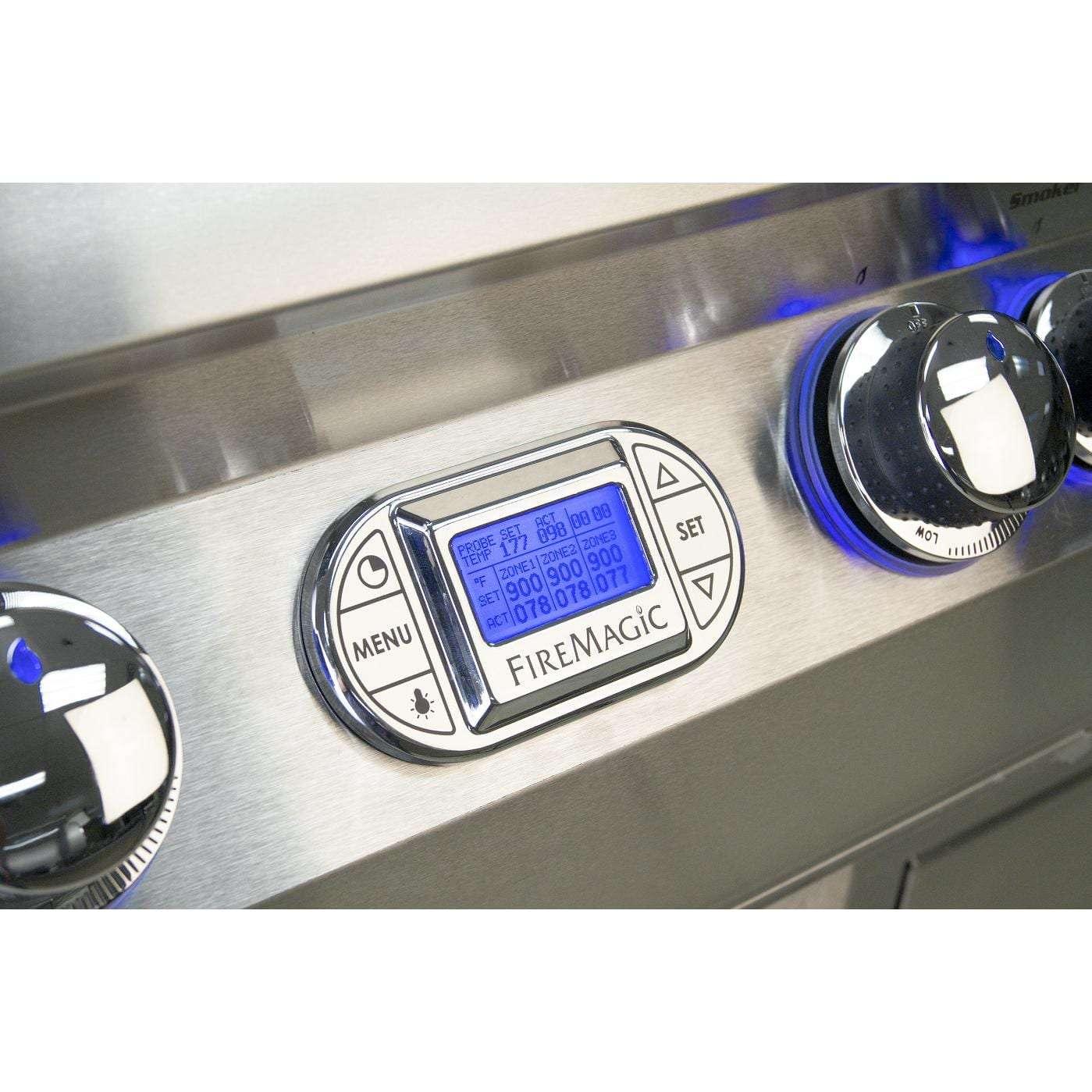 Fire Magic Echelon Diamond E660i Natural Gas Grill on Cart - Chrome Digital Thermometer