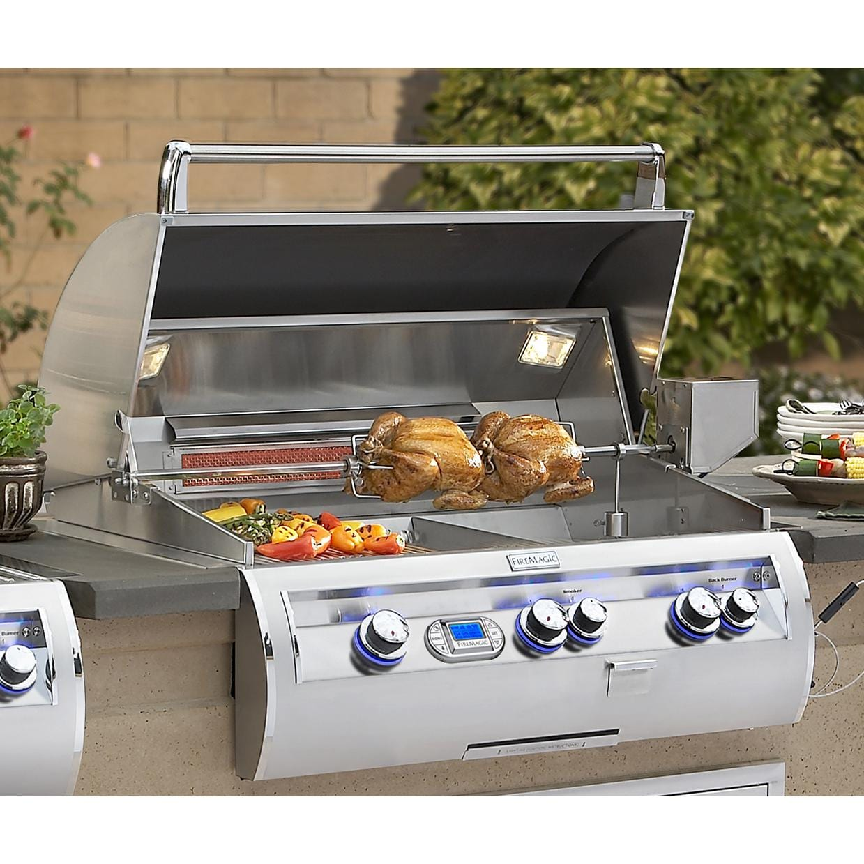 Fire Magic Echelon Diamond E790i Propane Gas Grill - Installed in Island