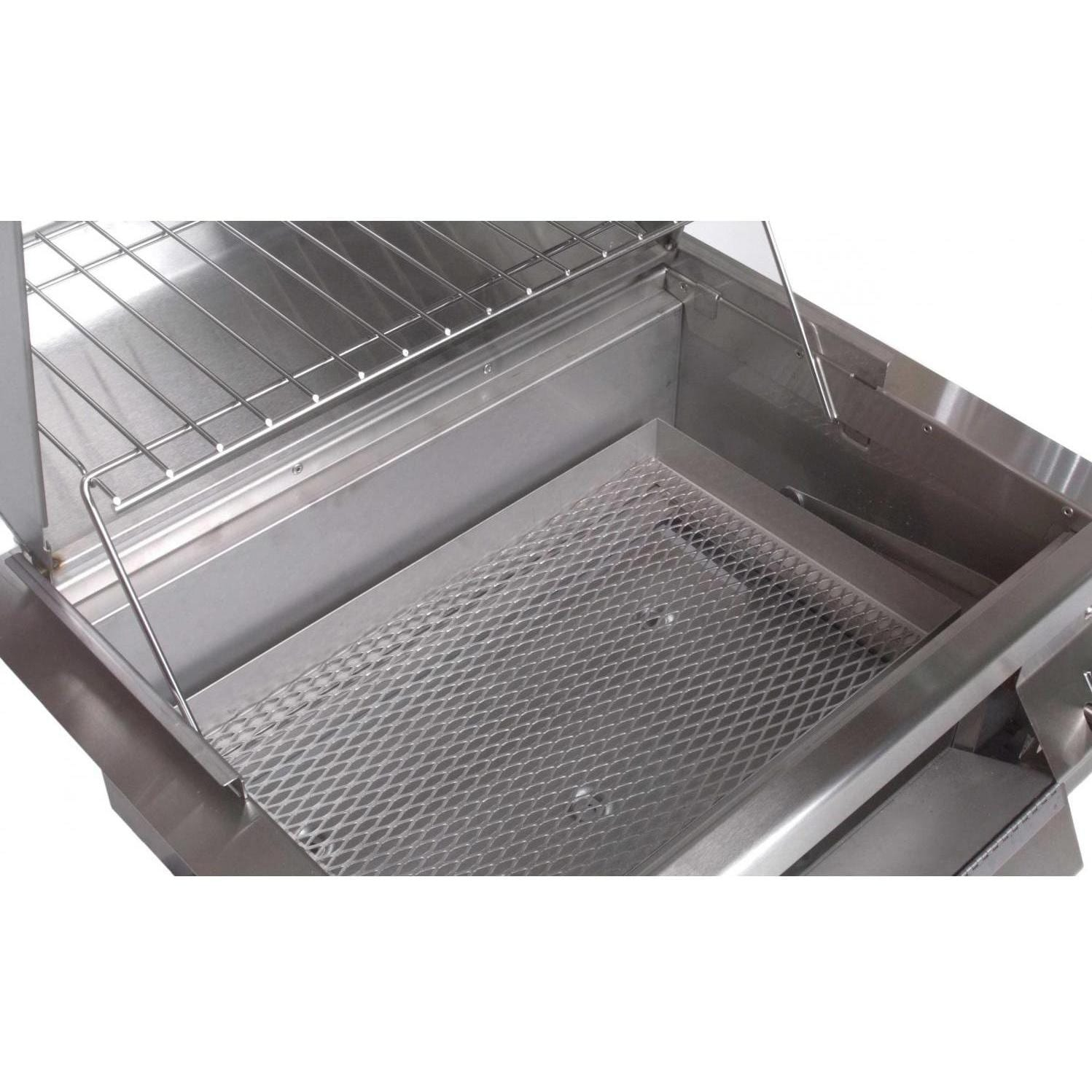 Fire Magic Charcoal Grills Legacy Smoker Grill   Adjustable Charcoal Tray  In Low Position