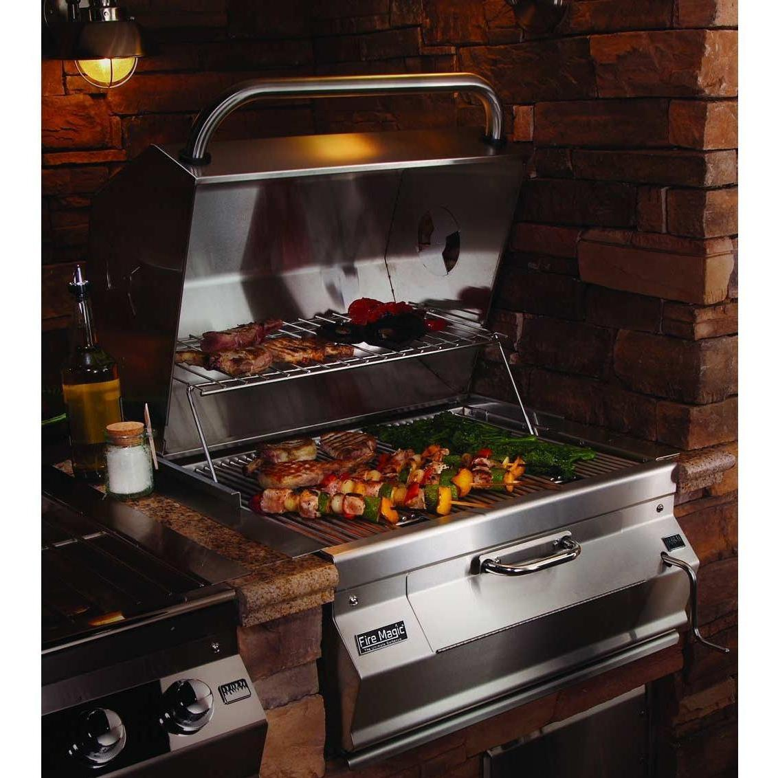 Fire Magic Legacy Meat Smoker Charcoal Grill 24-Inch Built-In