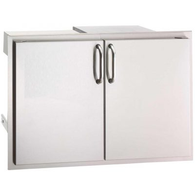 Fire Magic Select 30 Inch Double Access Door With Drawers And Trash Bin Storage