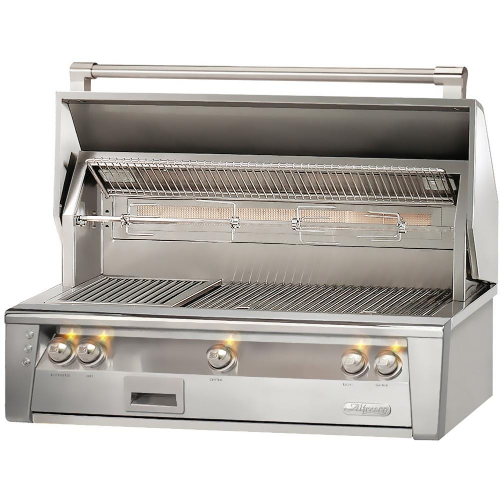 Alfresco alxe 42 inch propane gas grill the outdoor store for Outdoor kitchen bbq grill