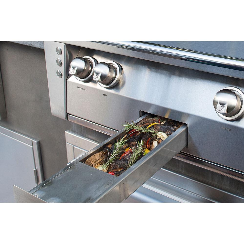 Alfresco Gas Grills ALXE 30-Inch Built-In NG Grill - Smoker Box