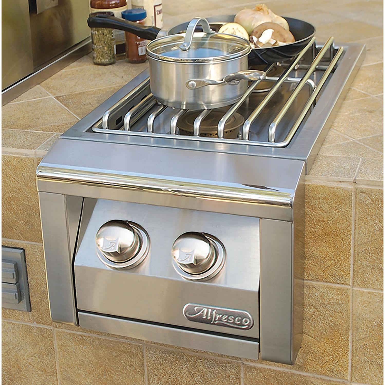 Alfresco Natural Gas Double Side Burner