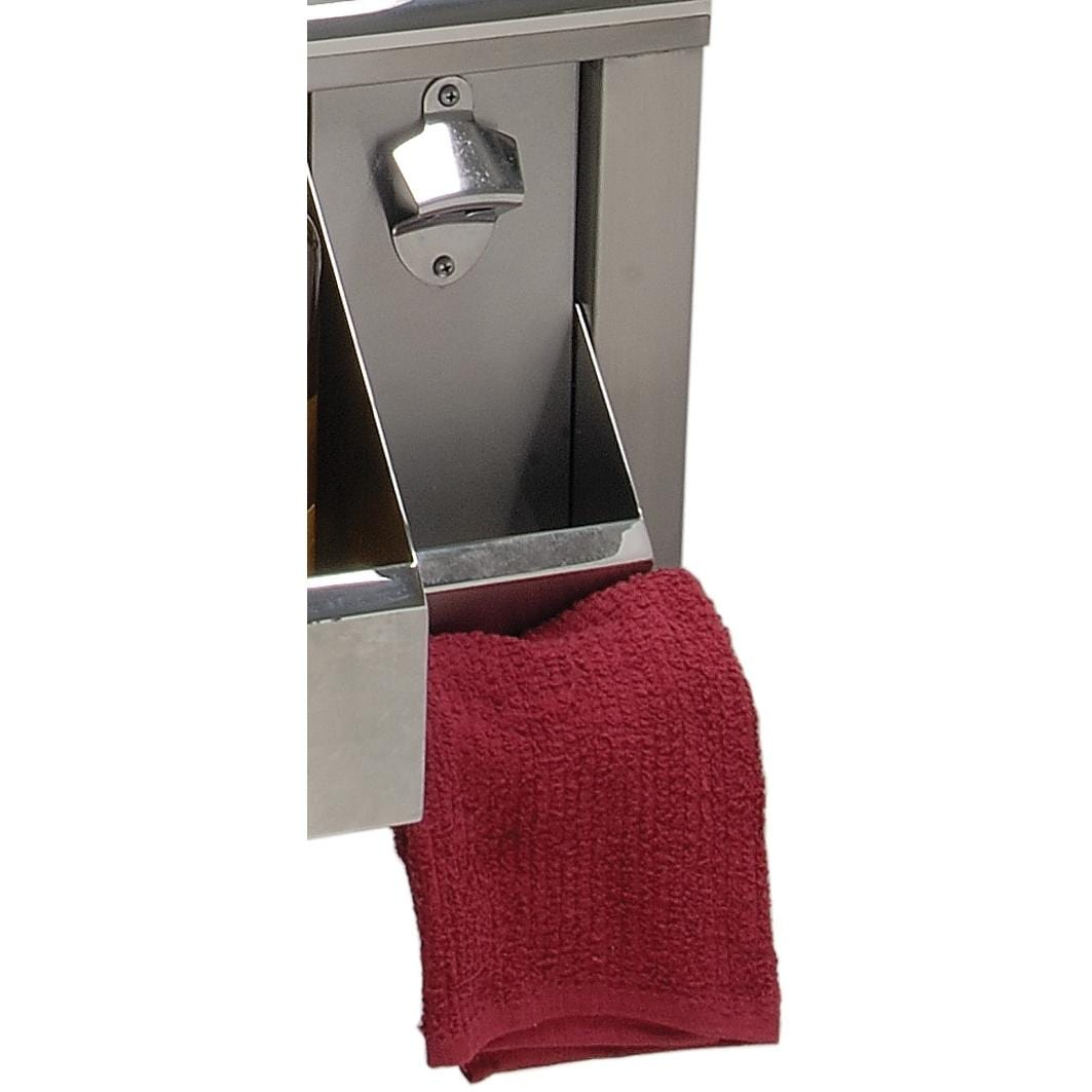 Alfresco Bottle Opener Plus Towel Bar Accessory