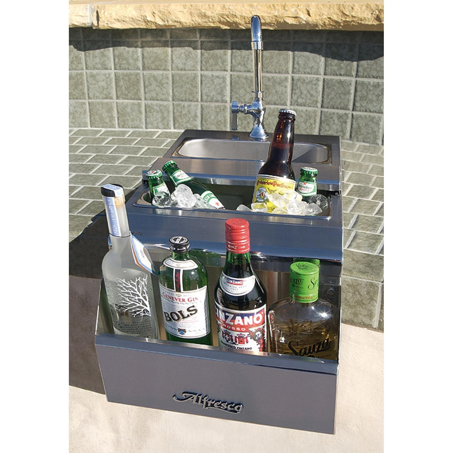 Alfresco 14-Inch Bartender Center Plus Sink