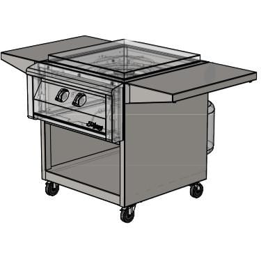 Alfresco 24-Inch Freestanding Cart For Versa Power Cooker - AGVPC-C