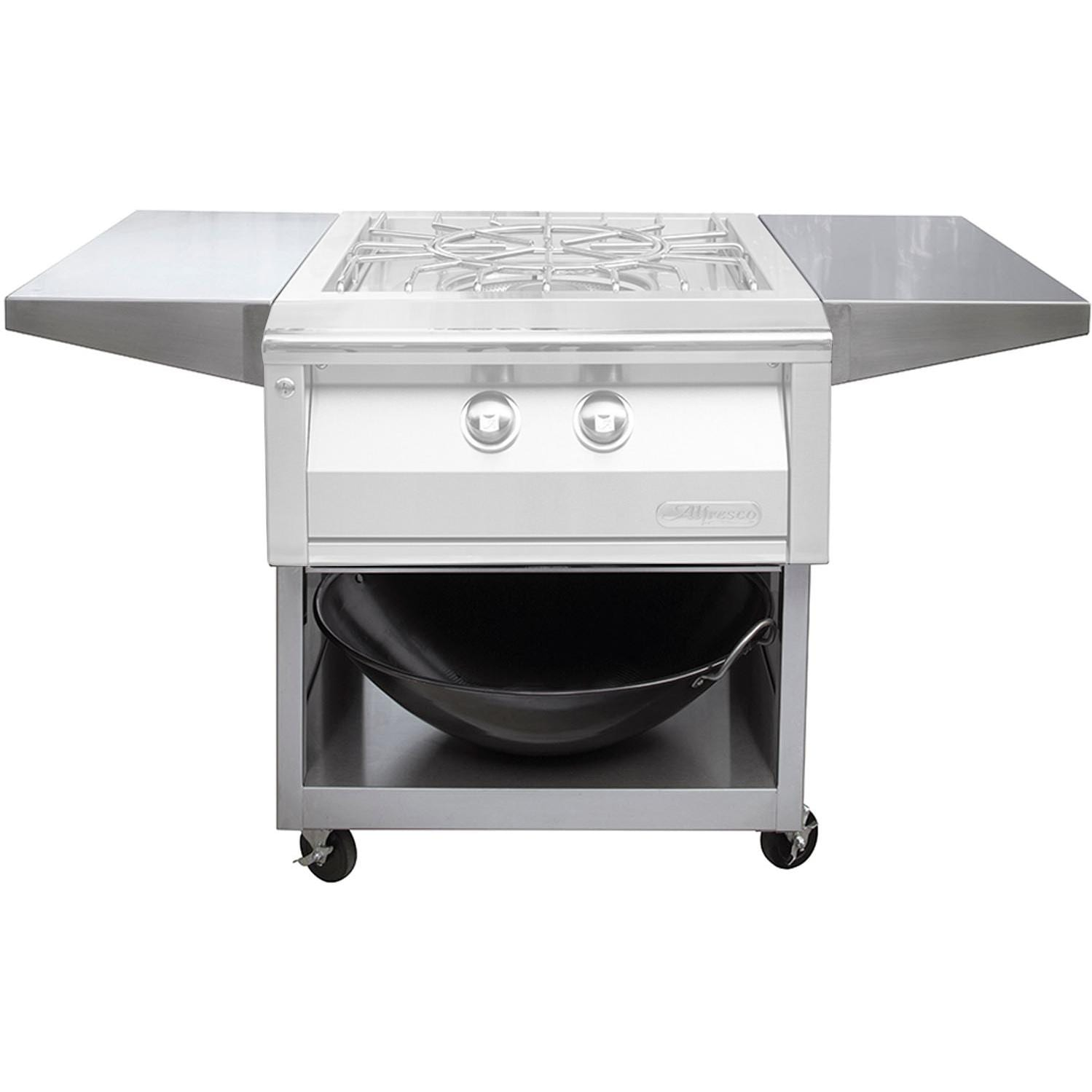 Alfresco 24-Inch Cart For Freestanding Versa Power Cooker - AXEVP-C