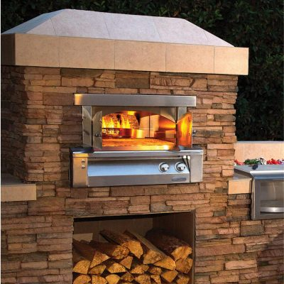 Alfresco 30-Inch Built-In Natural Gas Outdoor Pizza Oven